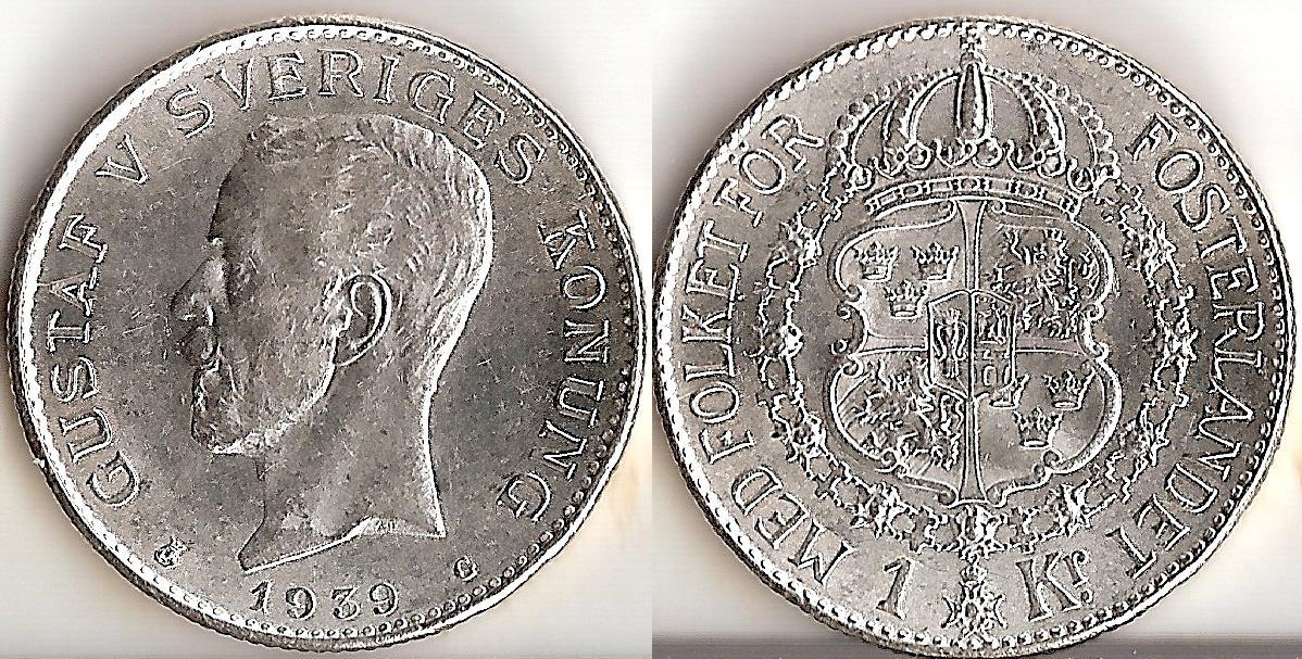 Svenska Silvermynt 1 kr 1875-1941
