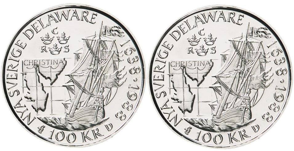 Svenska Silvermynt 100 kr 1983-1988
