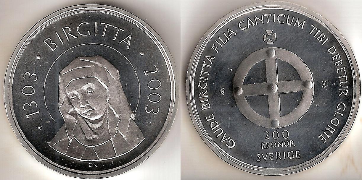 Svenska Silvermynt 200 kr 1980-2008