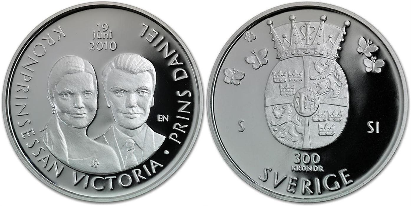 Svenska Silvermynt 300 kr 2010
