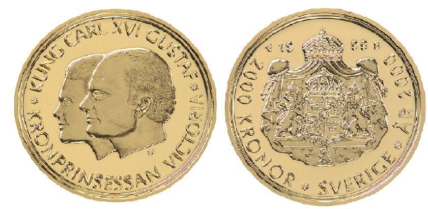 Svenska Guldmynt 2000 kr 1999