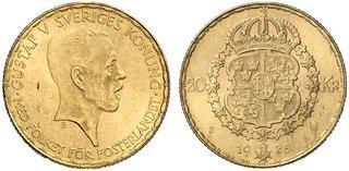 Svenska Guldmynt 20 kr 1925 1925