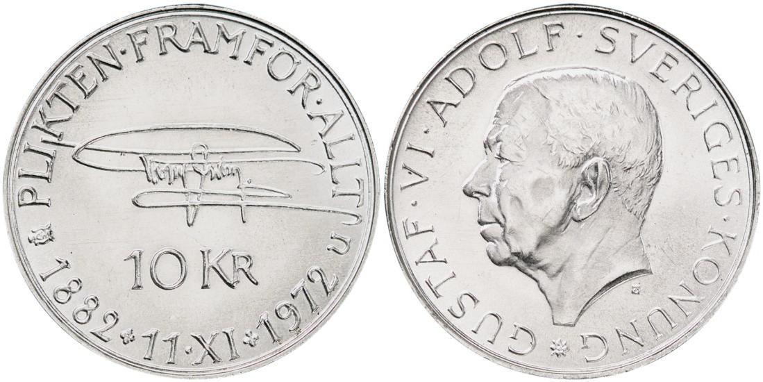 Svenska Silvermynt 10 kr 1972