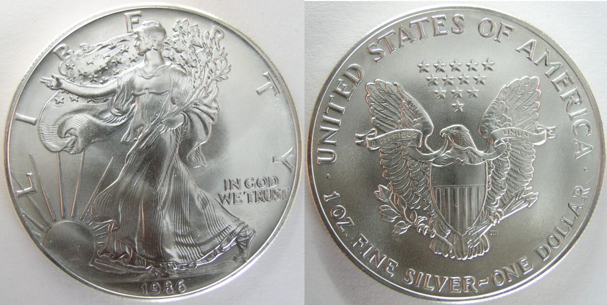 UTLÄNDSKA Silvermynt 1 OZ Silver