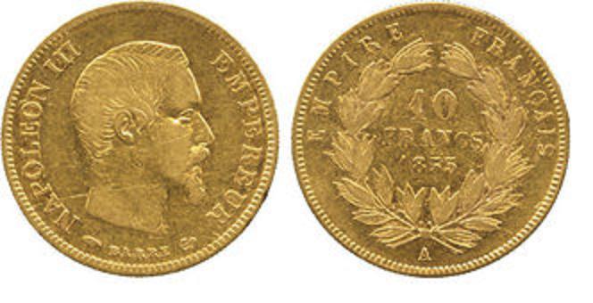 UTLÄNDSKA Guldmynt French Gold 10 Franc  1898-1914