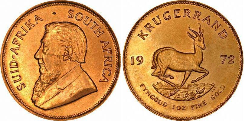 UTLÄNDSKA Guldmynt South Afrika Krugerrand 1 oz 1967-2000