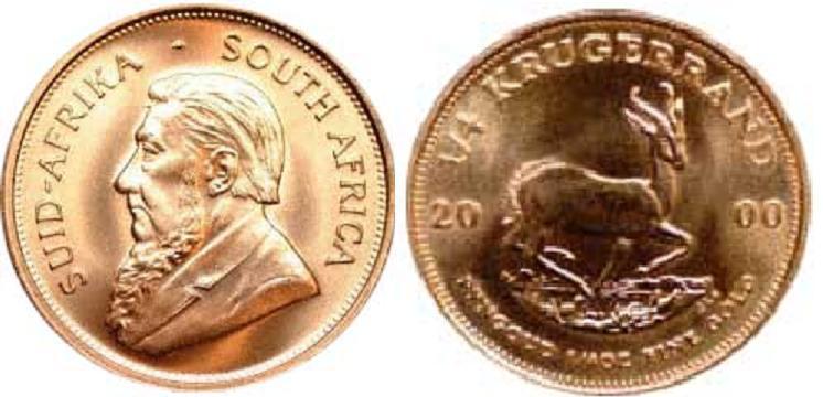 UTLÄNDSKA Guldmynt South Afrika Krugerrand 1/4 oz
