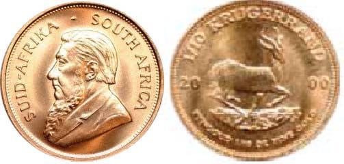 UTLÄNDSKA Guldmynt South Afrika Krugerrand 1/10 oz 1967-2000