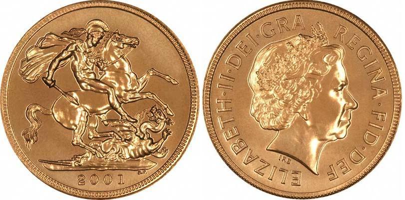 UTLÄNDSKA Guldmynt Great Britain 1 Sovereign 1817-
