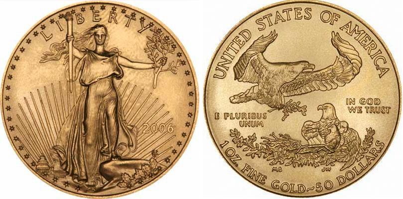 UTLÄNDSKA Guldmynt USA One Ounce Eagle