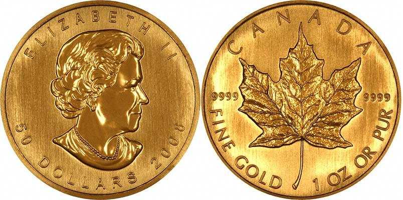 UTLÄNDSKA Guldmynt Canadian Gold Maple 1 oz 1979-