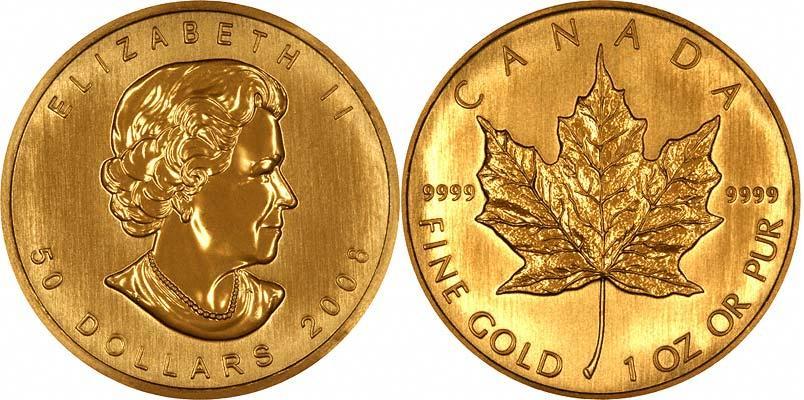 UTLÄNDSKA Guldmynt Canadian Gold Maple 1 oz 1979-