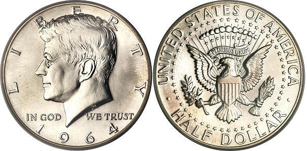 UTLÄNDSKA Silvermynt Usa Half Dollar  1892-1964