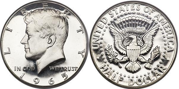 UTLÄNDSKA Silvermynt Usa Half Dollar  1965-1970