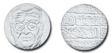 UTLÄNDSKA Silvermynt Finland 10 Markkaa 1970