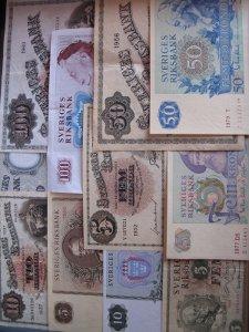 gamla svenska sedlar