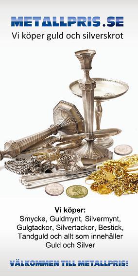 Du kan sälja silver till högt silverpris!